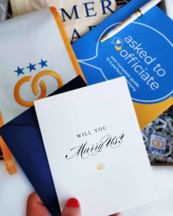 American Marriage Ministries - Will You Marry Us? is the perfect way to ask someone to officiate your wedding!