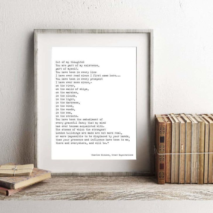 charles dickens printable wall art