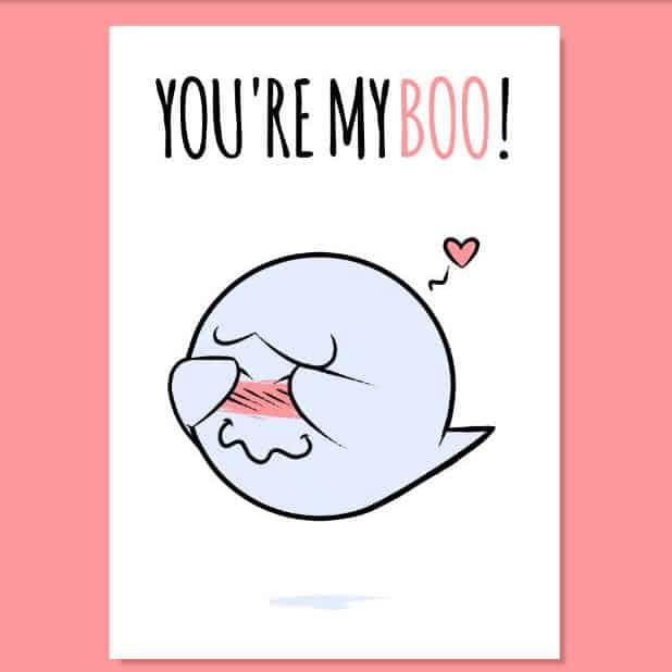 You're My Boo - Printable Romantic Cute Card