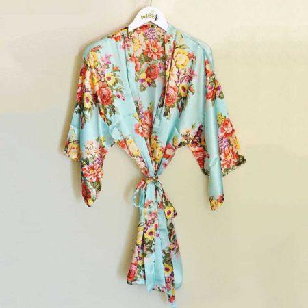 davids bridal floral robe