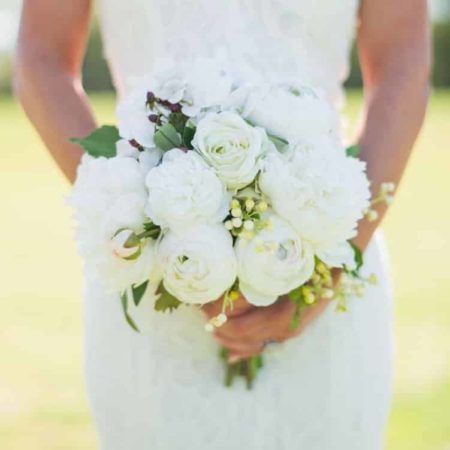 Something Borrowed Blooms - Audrey Bridal Bouquet - Silk Flower Wedding Bouquet for Rent