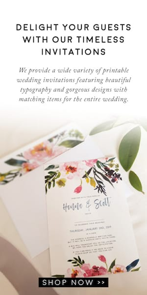Timberwink Studio Printable Wedding Invitations