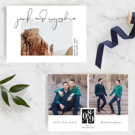 New 2019 Save the Date Designs from Minted! #wedding #weddinginspiration #weddingideas #ido #weddingplanning #weddings #savethedate #engaged