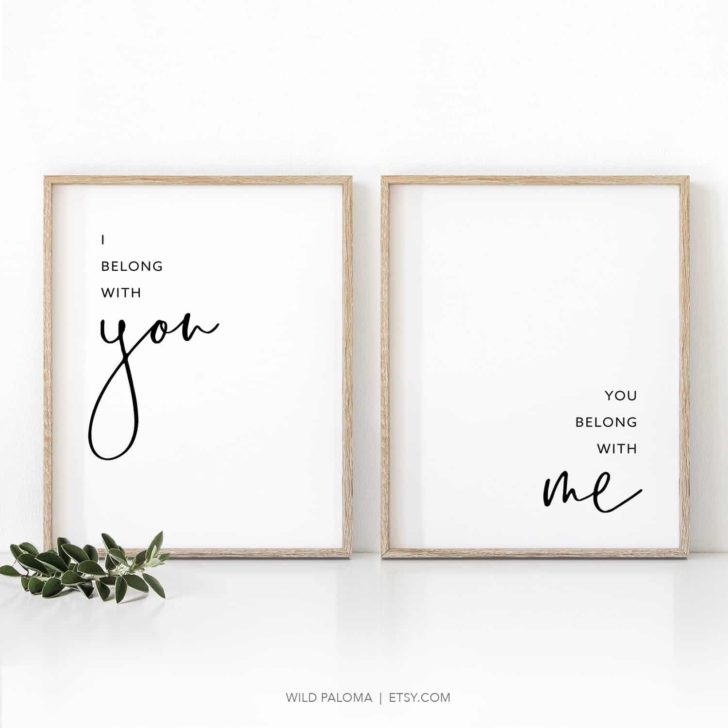 i belong with you wall art