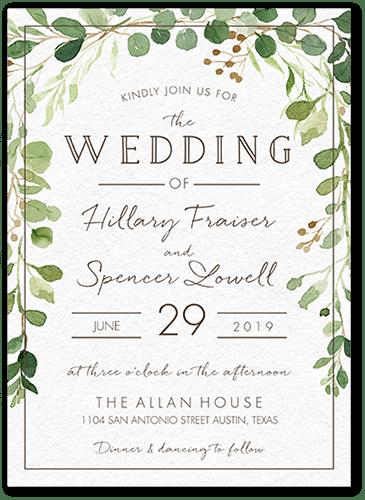 Botanical Union Wedding Invitation