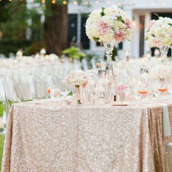 amazon wedding decor - full sequin table cloth