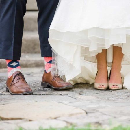 Flamingo Argyle Groomsmen Socks