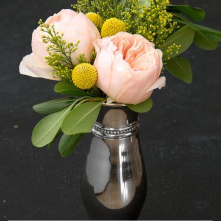 Garden Roses and Craspedia