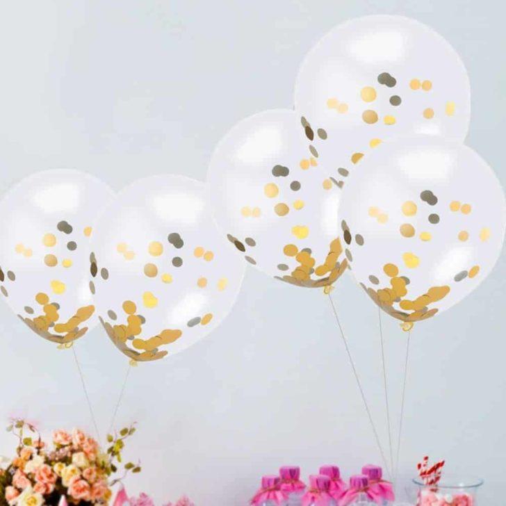 amazon wedding decor - glitter balloons
