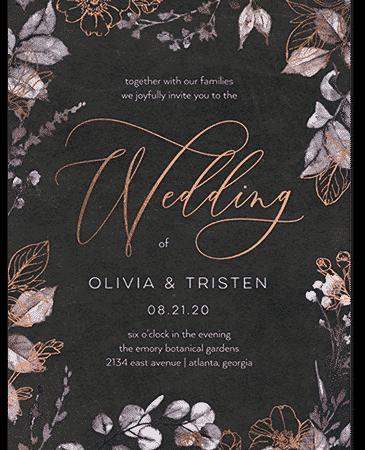 Gleaming Garden Wedding Invitation