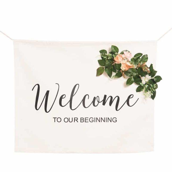 amazon wedding decor - welcome sign