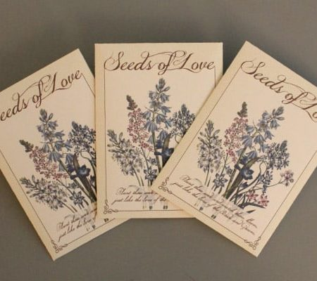 DIY Wedding Seed Packet Favors