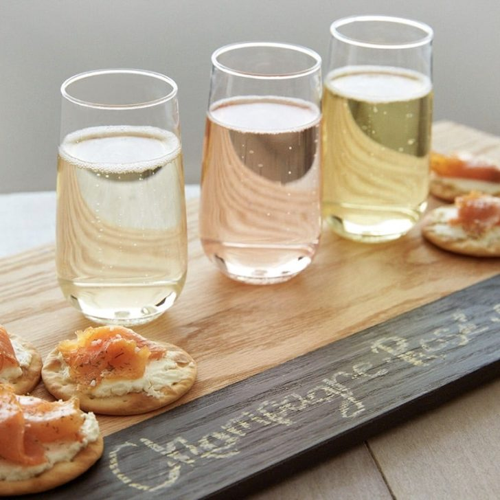 amazon wedding decor - recyclable plastic champagne flutes
