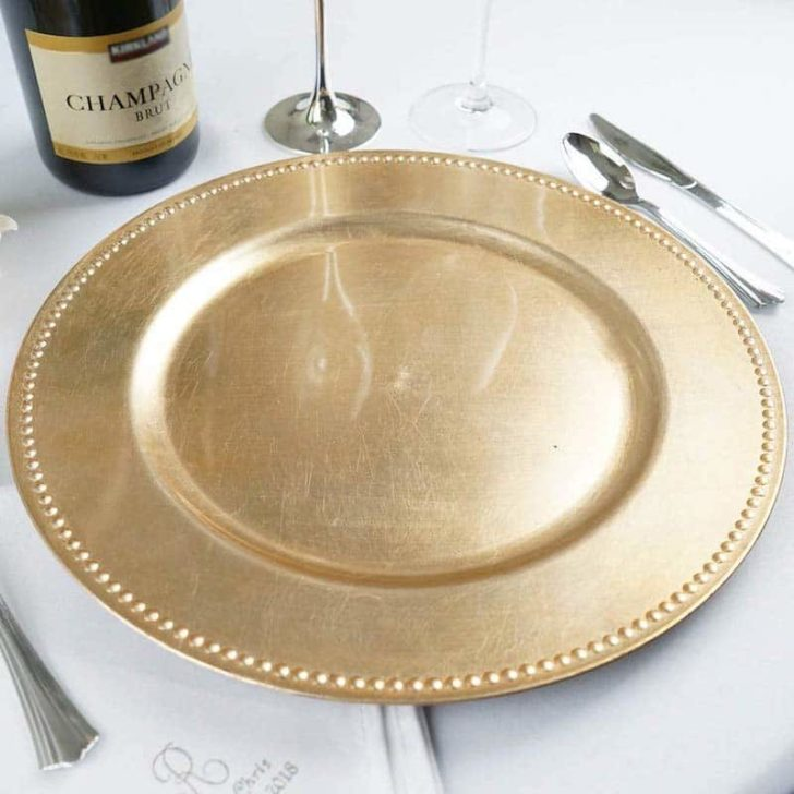 amazon wedding decor - wedding charger plates