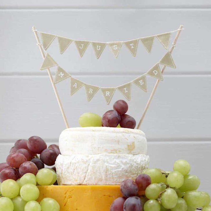amazon wedding decor - bunting wedding cake topper