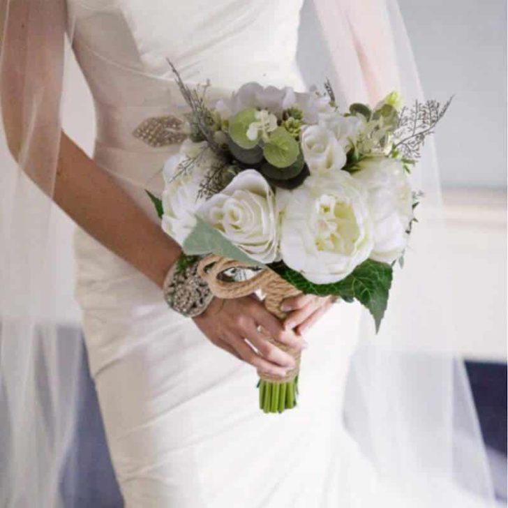 amazon wedding decor - rustic wedding bouquet
