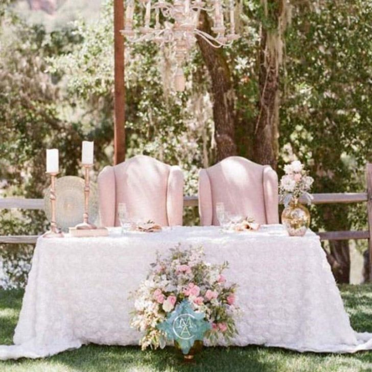 amazon wedding decor - rosette table cloth