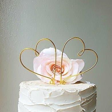 amazon wedding decor - heart wires wedding cake topper