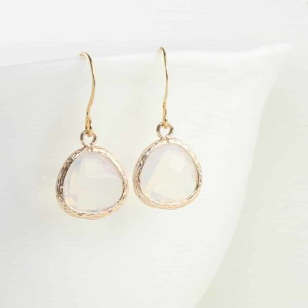 Gold Drop Earrings with Choice of Stone