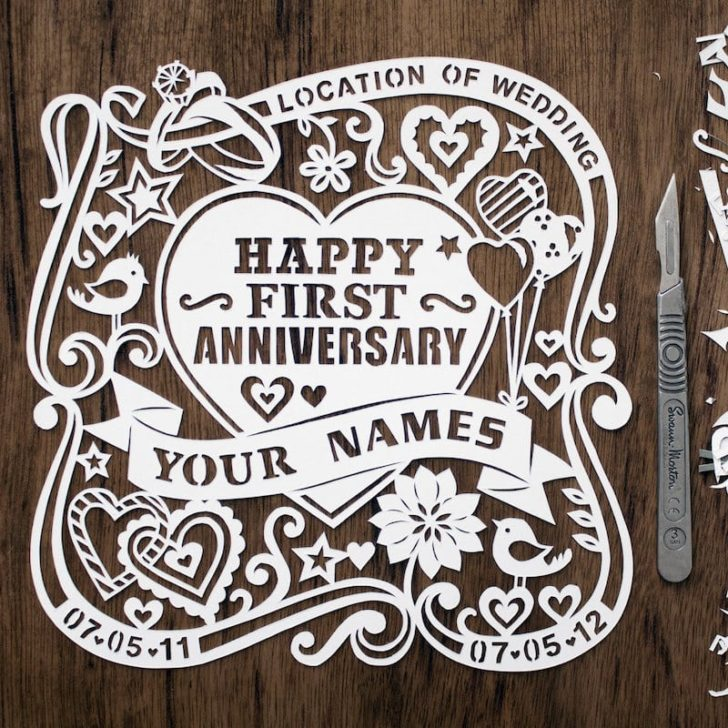 First Wedding Anniversary Gift Ideas Gifts For 1st Wedding Anniversary