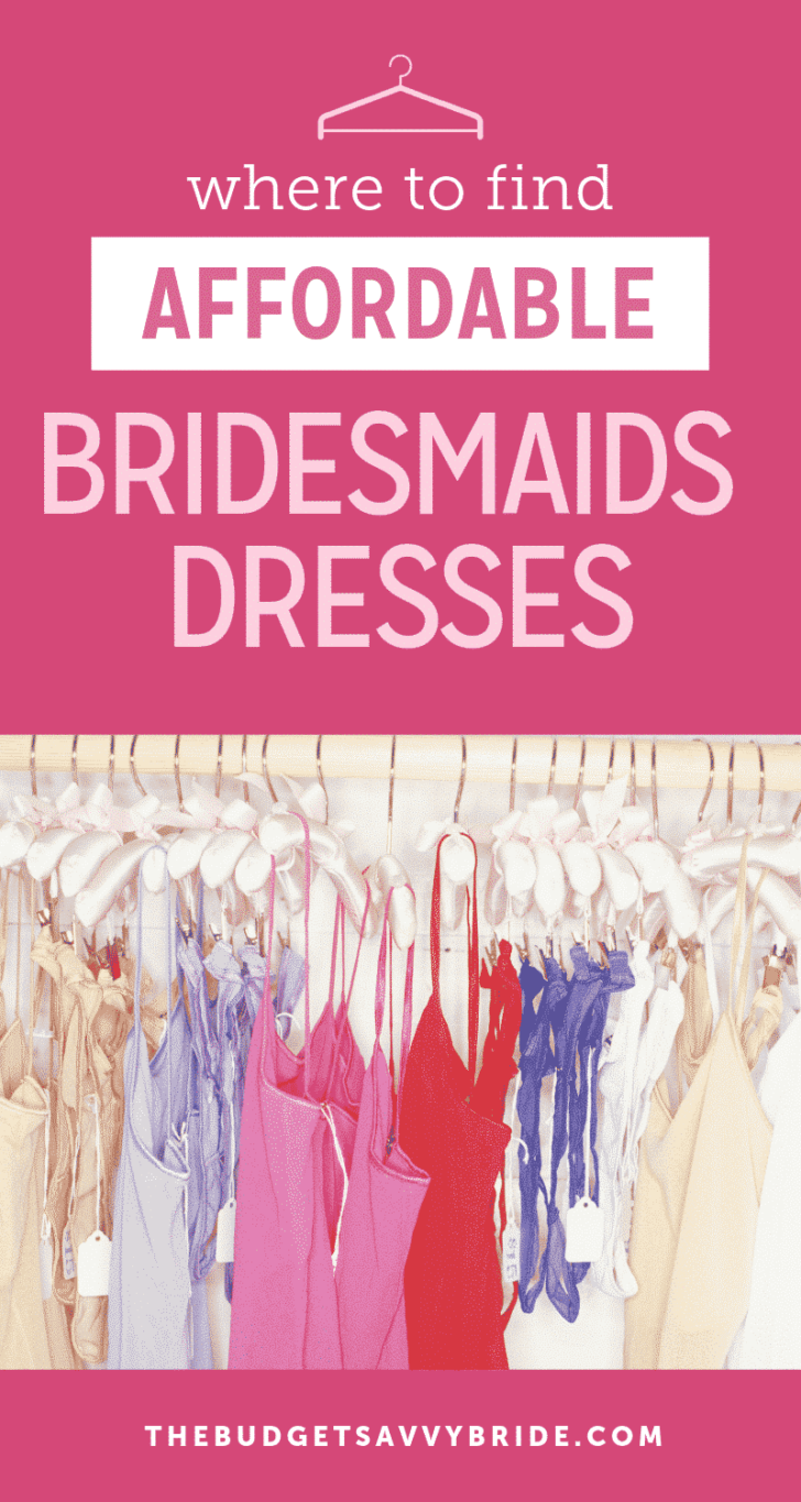 where to find affordable bridesmaids dresses