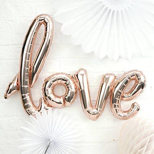amazon wedding decor - love balloons 1