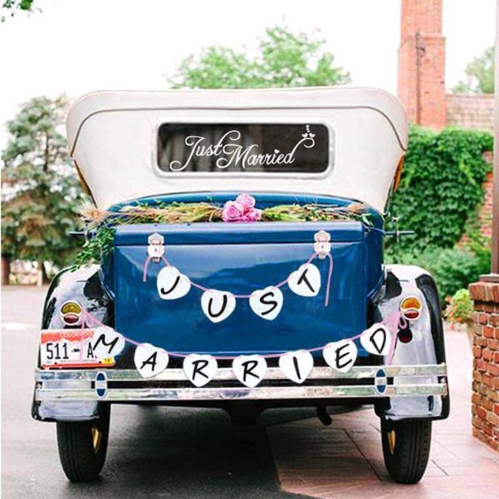amazon wedding decor - just married sign