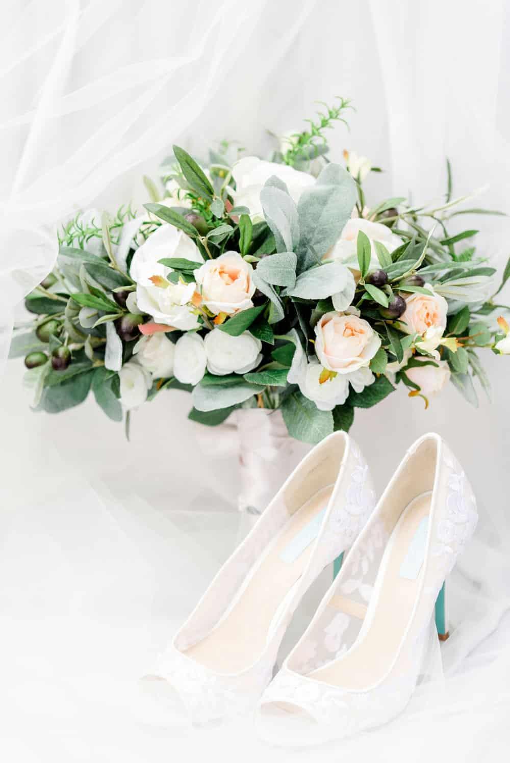 Blue and Green Garden Wedding