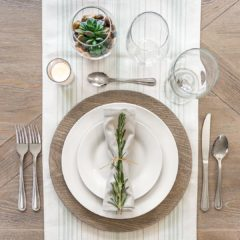 Dollar Tree Gray Faux Wood Plastic Charger Plates