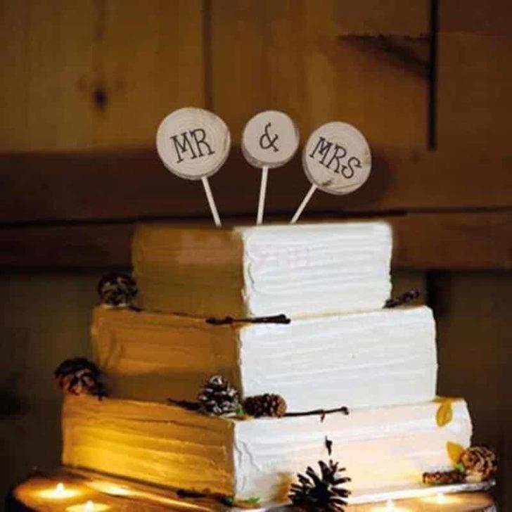amazon wedding decor - rustic wedding cake topper