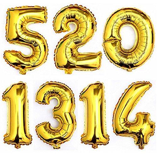 amazon wedding decor - gold balloon numbers