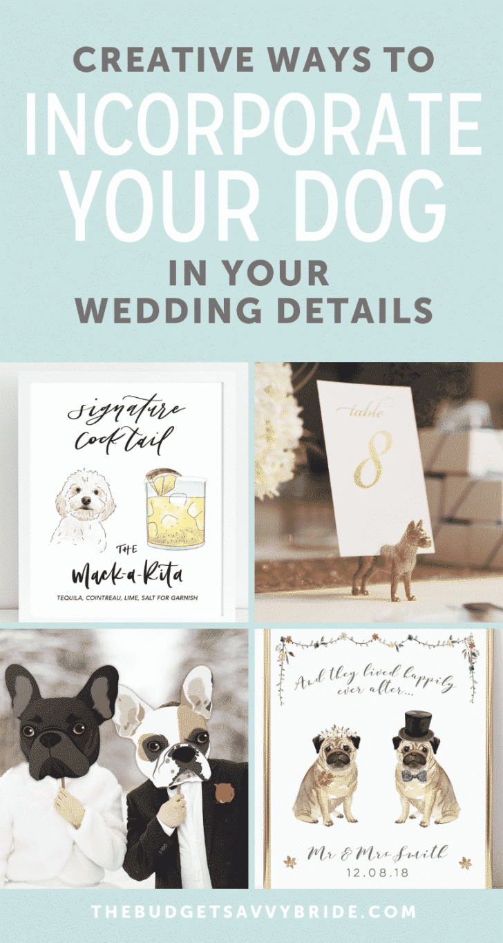 incorporate your dog in your wedding details