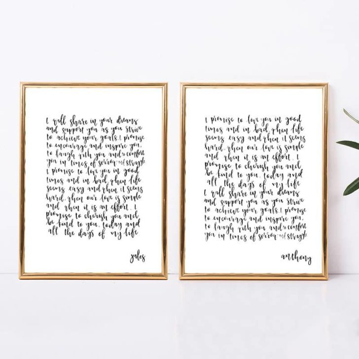 Originalsarebetter - paper prints of wedding vows - great anniversary gift idea for first anniversary - paper anniversary