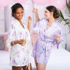 floral bridal robes ICING