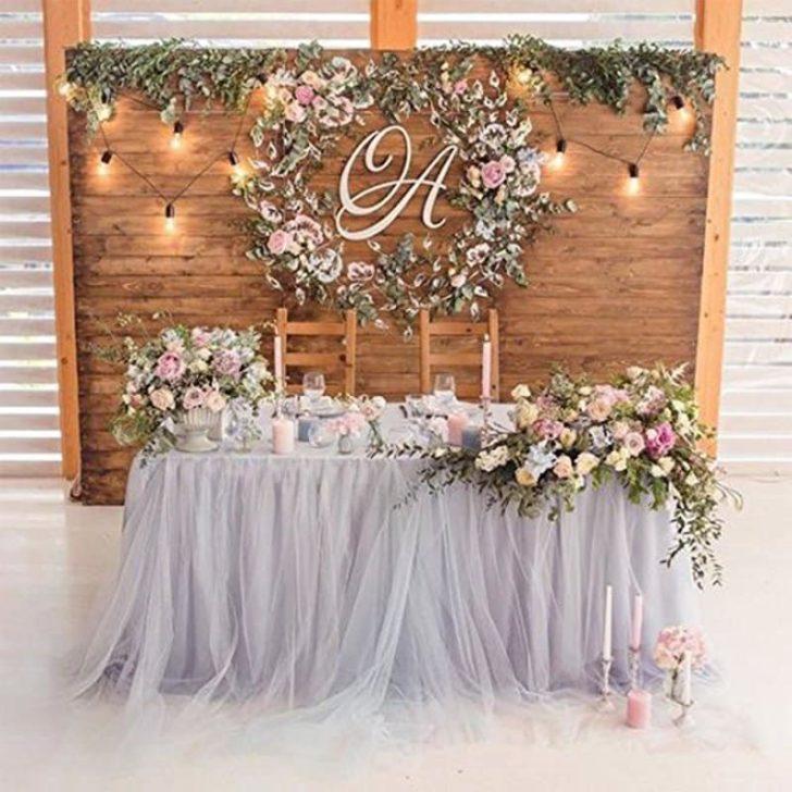 amazon wedding decor - tulle table skirt
