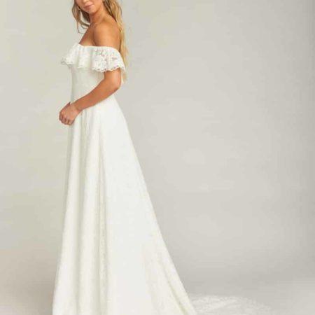 Karolina Off the Shoulder Lace Wedding Dress