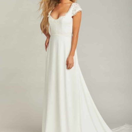 SHOW ME YOUR MUMU - Chantel Lace Bodice Cap Sleeve Wedding Dress
