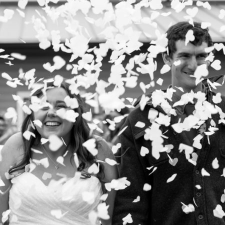 Staged Wedding Exits: The Wedding Photography Budget Hack! - Photo by M.Laine Photography