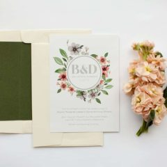 floral circle invitation set - paperlust wedding invitations