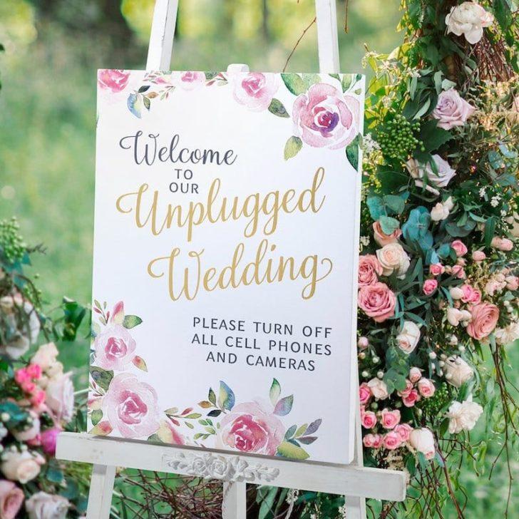 amazon wedding decor - unplugged wedding sign