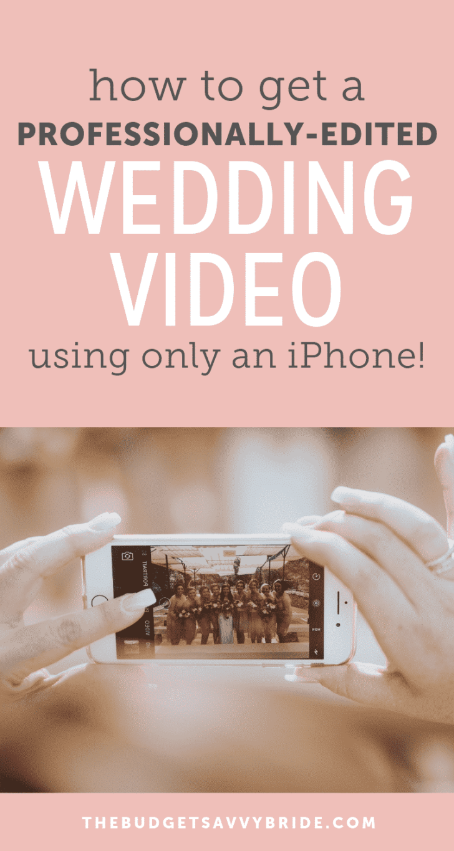 iphone wedding video