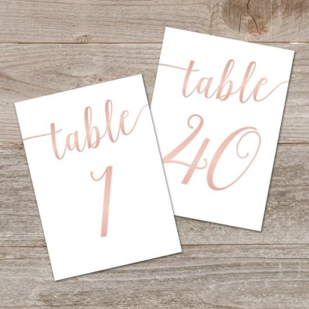 Rose Gold Printable Wedding Signs Bundle