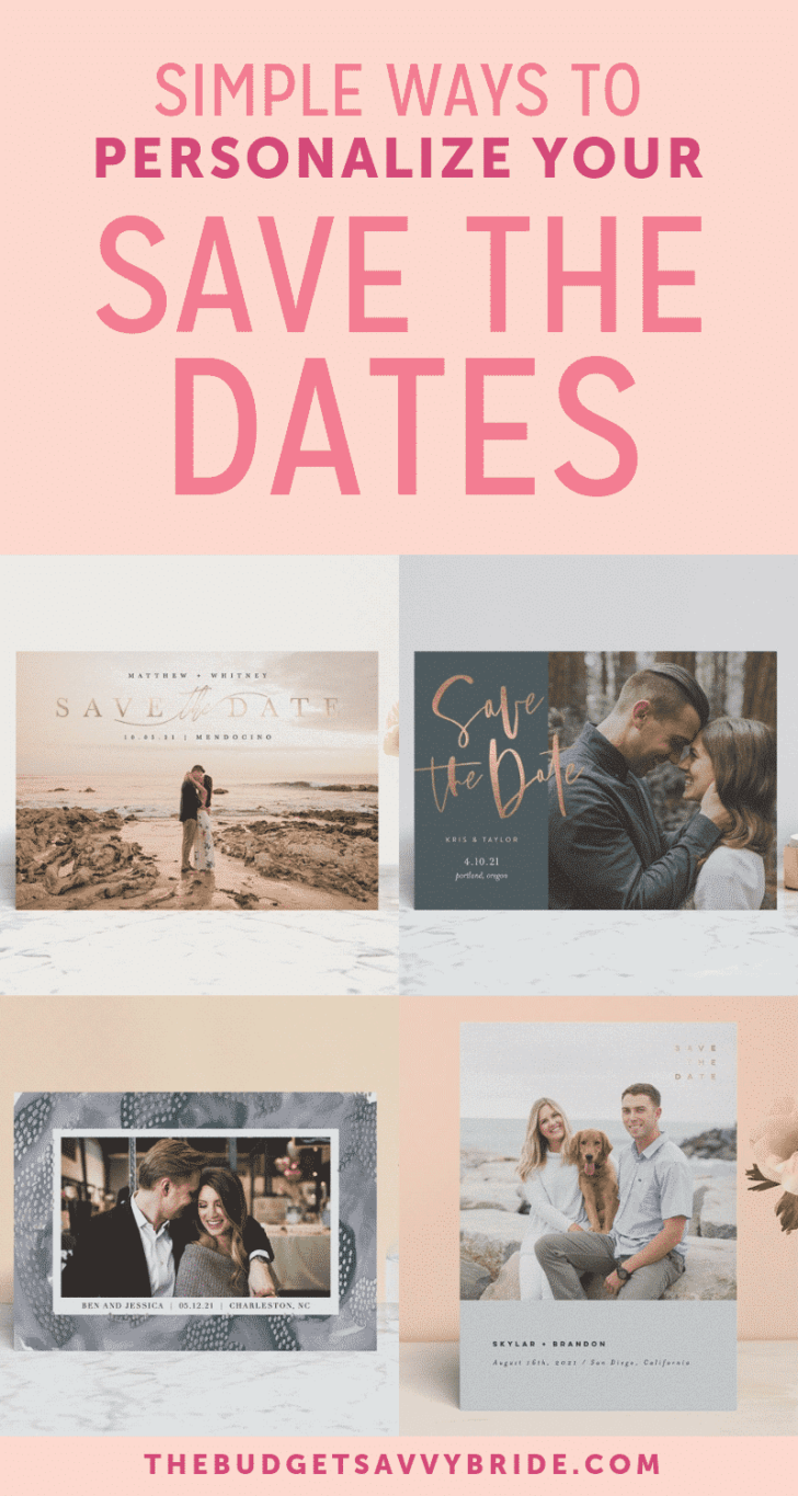 simple ways to personalize your save the dates