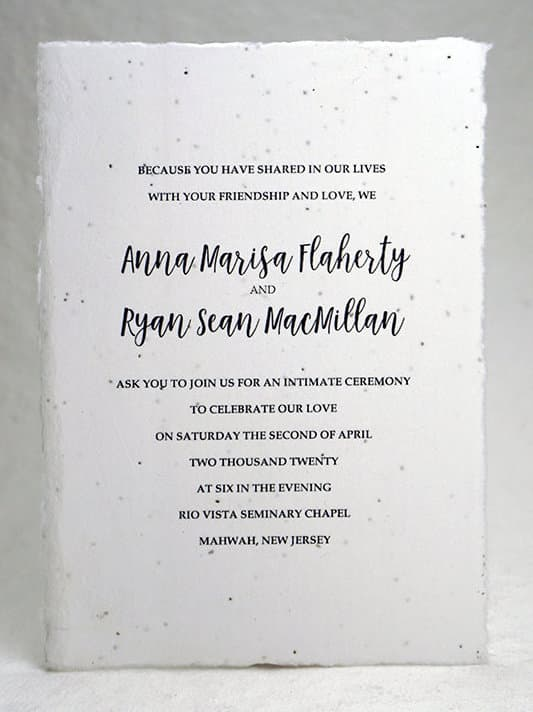 Wedding Invitations from FlowerSeedPaper on Etsy