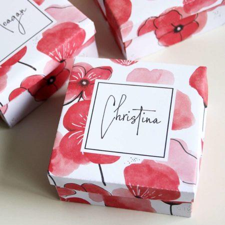 Printable Gift Box or Wedding Favor Template