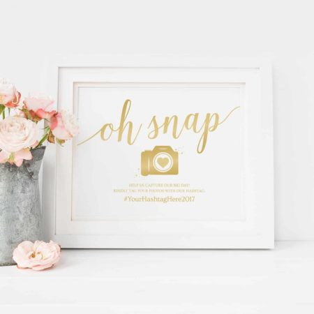 Gold Printable Wedding Signage Bundle