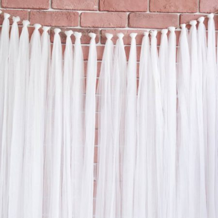 tulle wedding backdrop