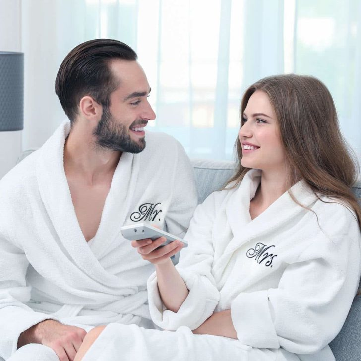 luxor linens egyptian cotton bathrobes - cotton wedding anniversary gift for him or her