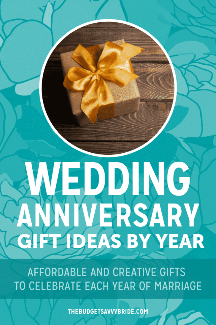 wedding anniversary gift ideas by year