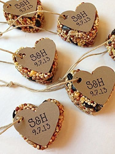 birdseed favors vintage blooming on Amazon